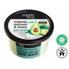 Organic-Shop-Eco-maska-do-włosów-Avocado-i-Miód-Ekspresowa-naprawa-250-ml