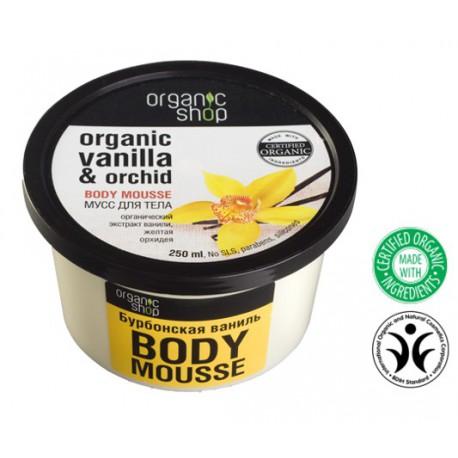 Organic Shop Eko mus do ciała - Organiczna Wanilia i Orchidea 250 ml