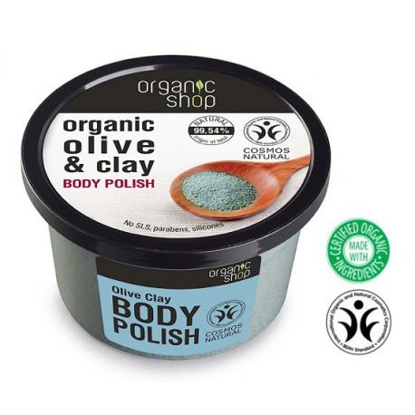 Organic Shop Body Polish peeling do ciała Niebieska glinka 250 ml